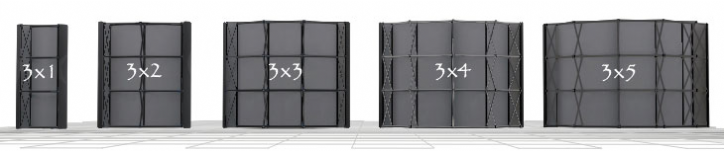 pop up stand dimensions sizes
